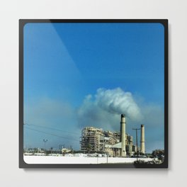 Pollution. Metal Print