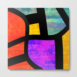 All the Right Angles, Abstract Art Metal Print