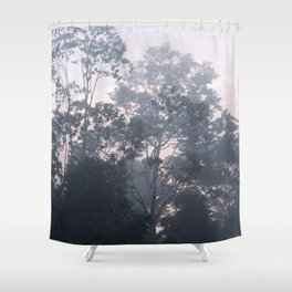 The mysteries of the morning mist Shower Curtain