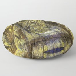 York Minster Van Gogh Style Floor Pillow