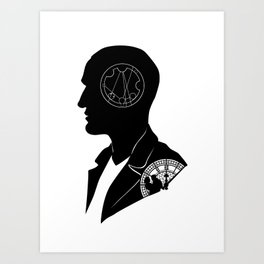 9th Doctor - [Gallifreyan] Quote Silhouette Art Print