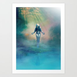 Crucified in Time Art Print