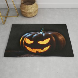 Halloween Pumpkin Jack-O-Lantern Spooky Rug
