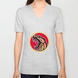 Copperhead Snake Mascot Unisex V-Neck