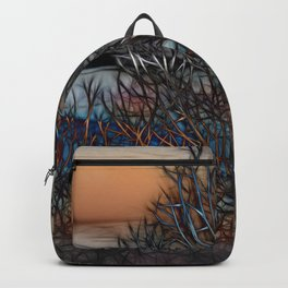 Abstract Sunset Tree Backpack