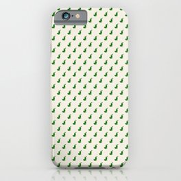 Holiday stockings - green iPhone Case