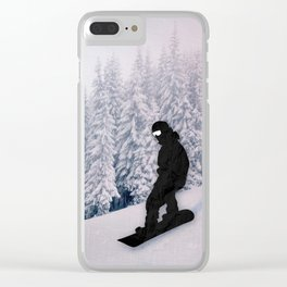 Snowboarding Clear iPhone Case