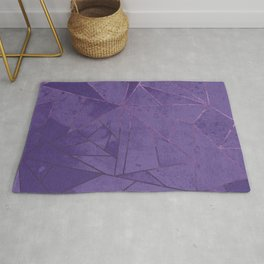 Amethyst Abstract Geometric Lines Rug