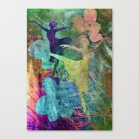 ballet Canvas Prints featuring Ballet by Vitta