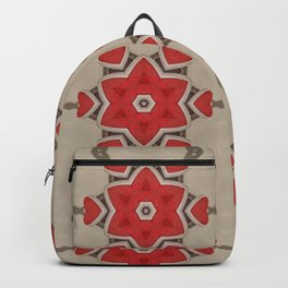 Red Hearts & Flowers Backpack