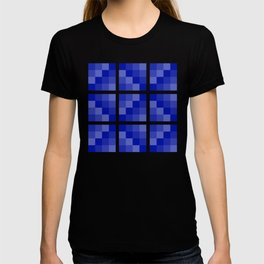 Four Shades of Blue Square T-shirt