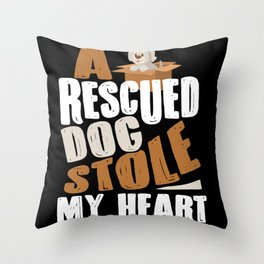 Rescued Dogs Animal Shelter Throw Pillow