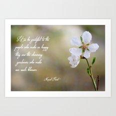 Let us be grateful Art Print
