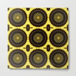 Sunflower Manipulation Grid 2 Metal Print