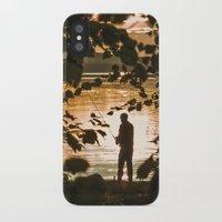 fishing iPhone & iPod Cases featuring Fishing by Svetlana Korneliuk