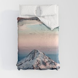 Mountain Sunset - Nature Photography Comforters