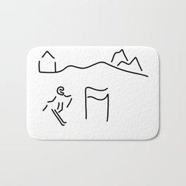 alpine skier Bath Mat