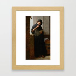 Longing - Saudade-  by Almeida Junior, 1899 Framed Art Print