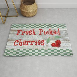 Fresh Picked Cherries Rug