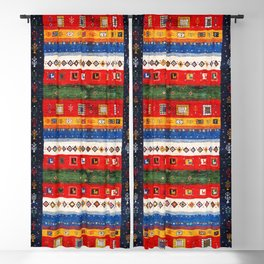 N35 - Bohemain Colored Moroccan Traditional Andalusian Artwork. Blackout Curtain