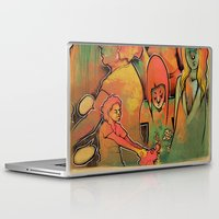 faces Laptop & iPad Skins featuring FACES by tidlin