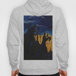 Time and the bells have buried the day, but they  dance to the violin music up  to the end of time  Hoody
