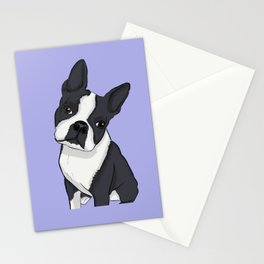 Boston Terrier Pup Stationery Cards