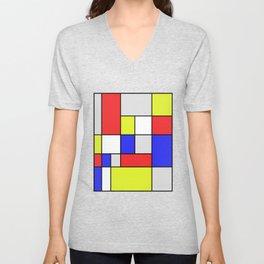 Mondrian #25 Unisex V-Neck