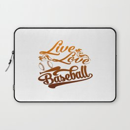 LIVE - LOVE - BASEBALL Laptop Sleeve