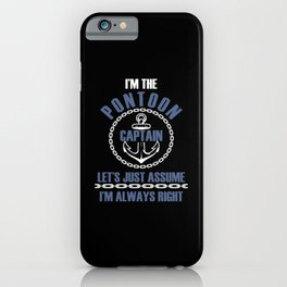 Pontoon Captain Funny Boat Lover Sailor iPhone Case