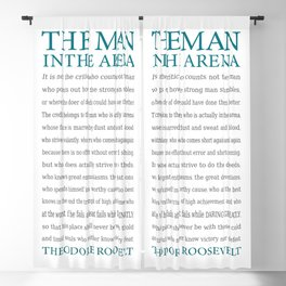 The Man In The Arena - Daring Greatly Quote Blackout Curtain