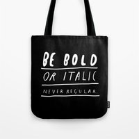 italy Tote Bags featuring NEVER by WASTED RITA