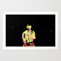 manhattan Art Prints featuring manhattan by eemoo