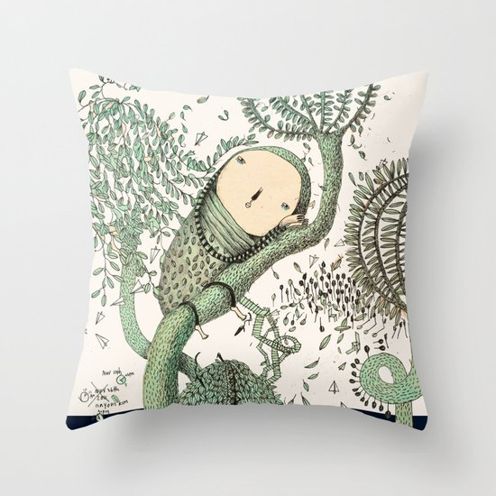 My Green Memory Throw Pillow