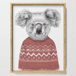 Winter koala (red) Serving Tray