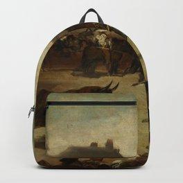 """Francisco Goya """"Corrida de toros en un pueblo"""" Backpack"""
