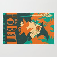 hobbit Area & Throw Rugs featuring The Hobbit by Greg Wright