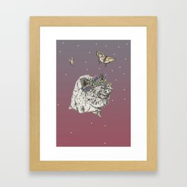 The Boar and the Butterflies at Dusk Framed Art Print