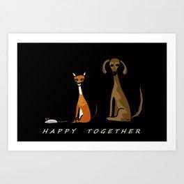 Happy Together - Black Art Print