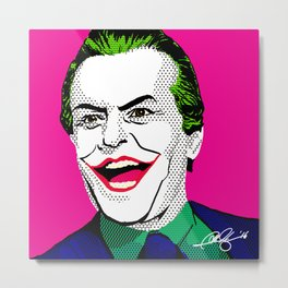 Pop Joker: Nicholson Metal Print