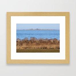 At the beach 7 Framed Art Print