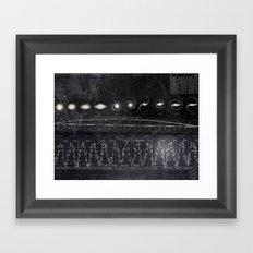 Black&White Diagram Framed Art Print