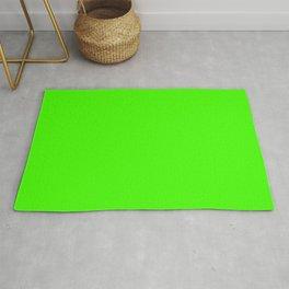 PLAIN SOLID FLUORESCENT GREEN - NEON GREEN  Rug