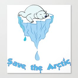 Save the Arctic bear Canvas Print