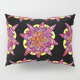 Pink Starburst Pillow Sham