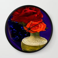 tequila Wall Clocks featuring Tequila Rose by TexasArt