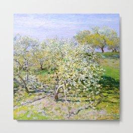 """Claude Monet """"Apple Trees in Bloom"""", 1873 Metal Print"""