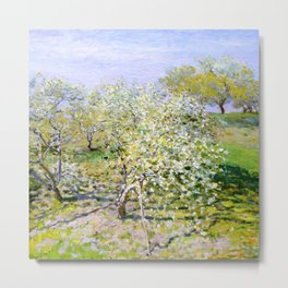 "Claude Monet ""Spring (Apple Trees in Bloom)"" Metal Print"