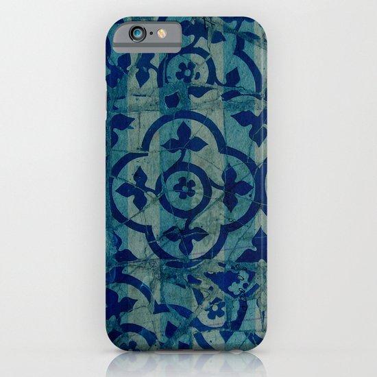 mosaic in cyan iPhone & iPod Case