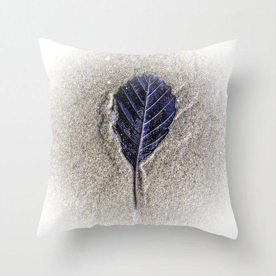 Sand Leaf Throw Pillow